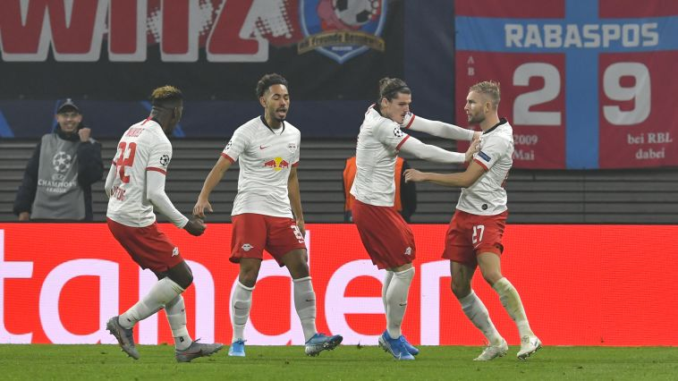 שערים מדהימים של לייפציג הובילו לניצחון חשוב (JOHN MACDOUGALL/AFP via Getty Images)