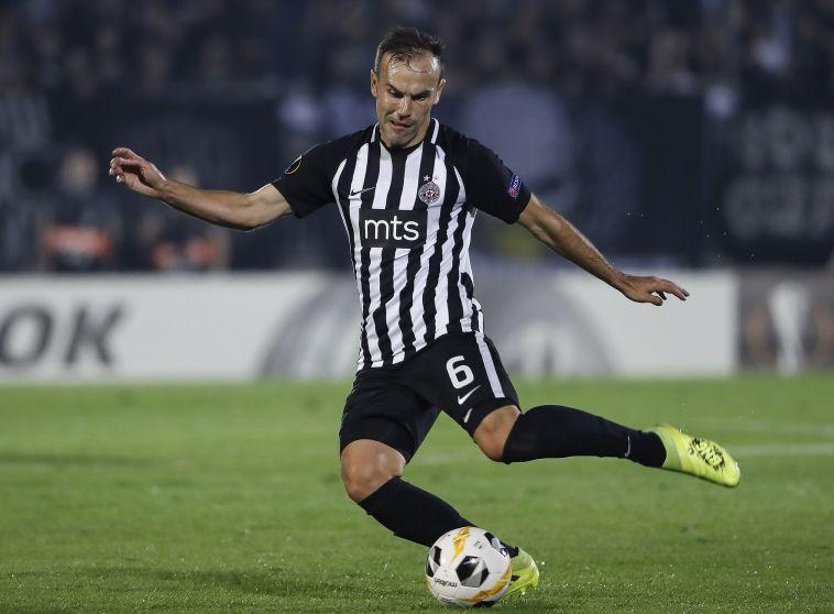 נאתכו. כבש את השער הראשון ב-0:4 של פרטיזן בלגרד (Srdjan Stevanovic/Getty Images)