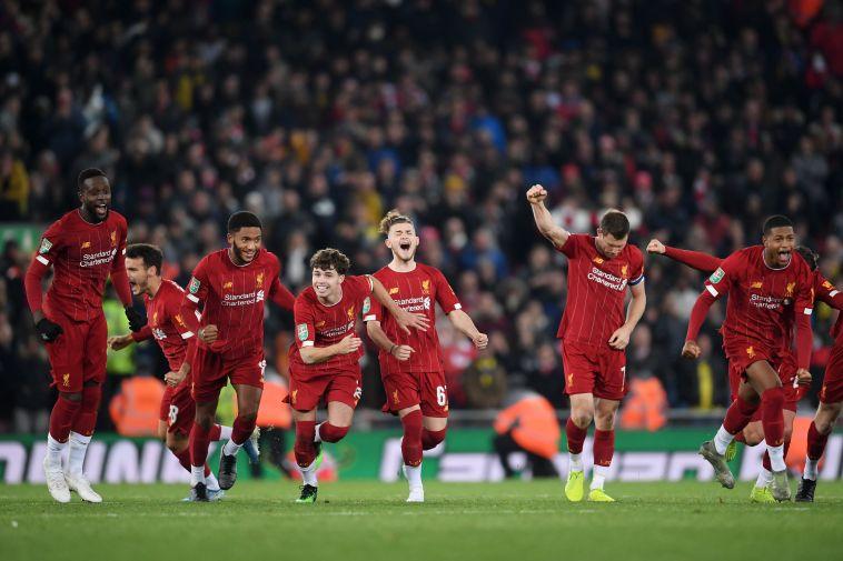 ליברפול חוגגת מול ארסנל. המייטירדס יעשו זאת שוב נגד אסטון וילה? (Laurence Griffiths/Getty Images)