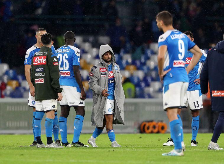 שחקני נאפולי מאוכזבים. לא מסתדרים עם אנצ'לוטי (Francesco Pecoraro/Getty Images)