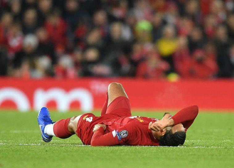 """ואן דייק לאחר המשחק. """"ברור שקשה לשחק נגד נאפולי"""" (Michael Regan/Getty Images)"""