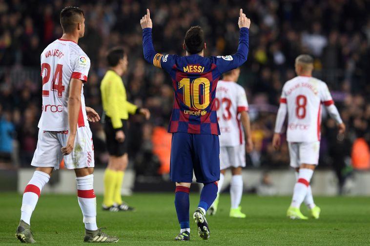 שני ביצועים מושלמים של הארגנטינאי, שעלה לפסגת הכובשים בליגה (JOSEP LAGO/AFP via Getty Images)