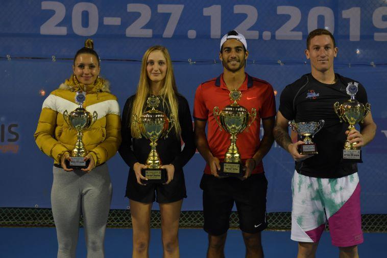הזוכים והפיינליסטים (צילום: אלכס גולדנשטיין, איגוד הטניס)