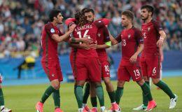 שחקני פורטוגל הצעירה חוגגים