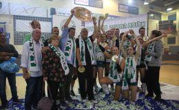 מכבי חיפה כדורעף נשים חוגגת אליפות