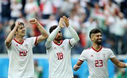 שחקני איראן חוגגים