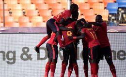 שחקני נבחרת אוגנדה חוגגים