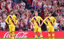שחקני ברצלונה מאוכזבים