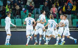 שחקני נבחרת סלובניה חוגגים