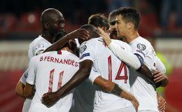 שחקני נבחרת פורטוגל חוגגים